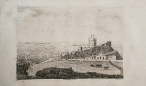1770 Antique Engraving Print, Bambrough castle