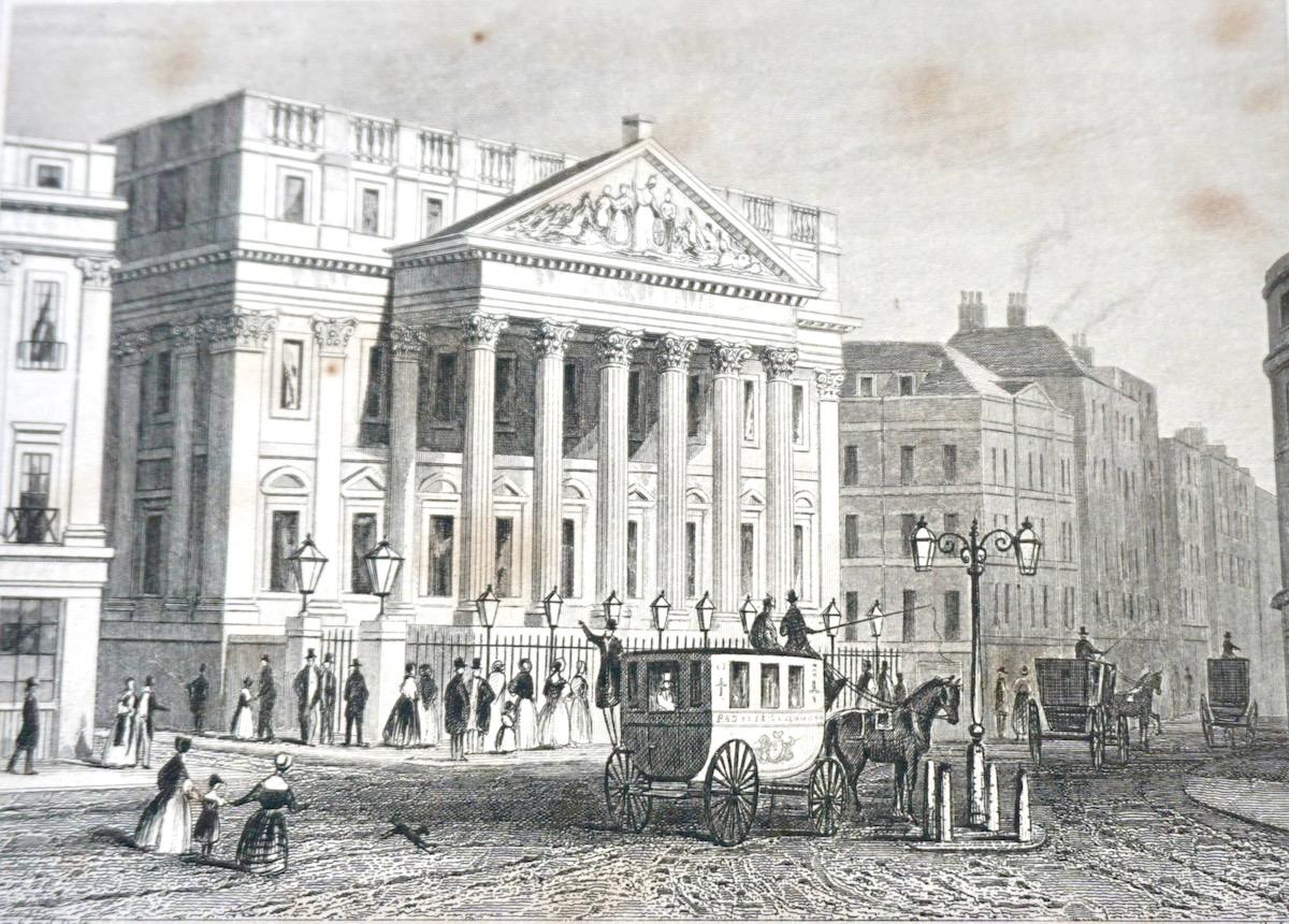 Antique Engraving Print Quot The Mansion House Quot London 1830