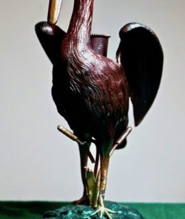 Antique Victorian metal bird