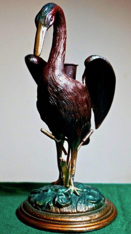 Antique Victorian metal bird