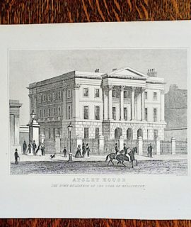 "Antique Engraving Print, ""Apsley House"", 1830"