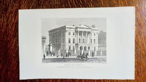 """Antique Engraving Print, """"Apsley House"""", 1830"""