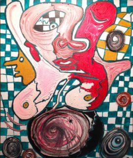 Fetus olio su tela 50 x 40, copertina per Fetus.