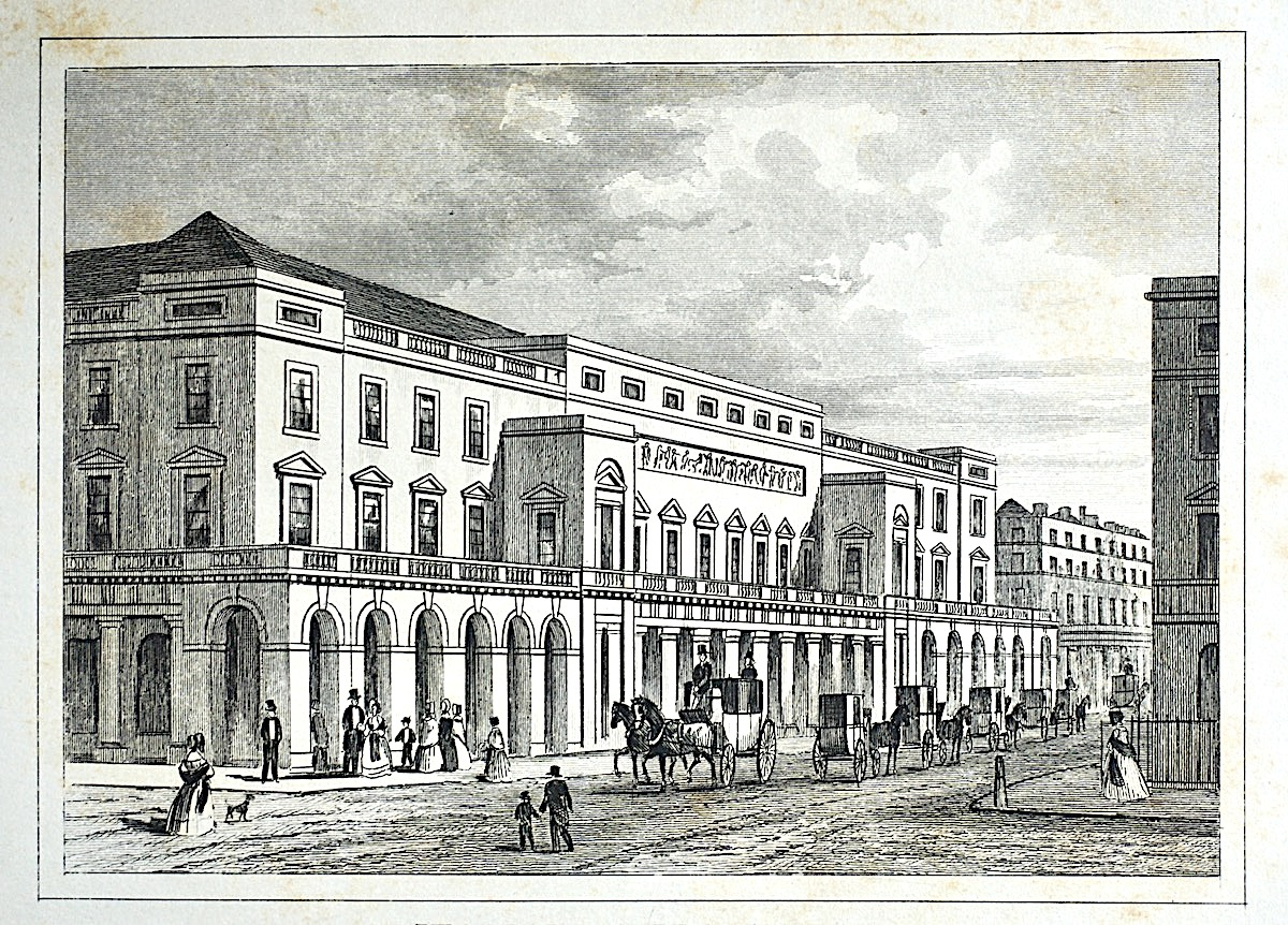 Antique Engraving Print Quot Italian Opera House Quot London