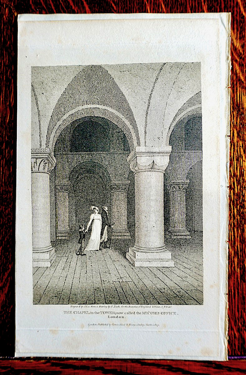 Antique Engraving Print Quot The Chapel In The Tower Quot London
