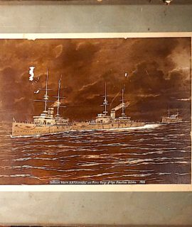 """""""Collision betwen H.M.S. Hannibal and Prince George off Cape Fininsterre, October 1903"""""""