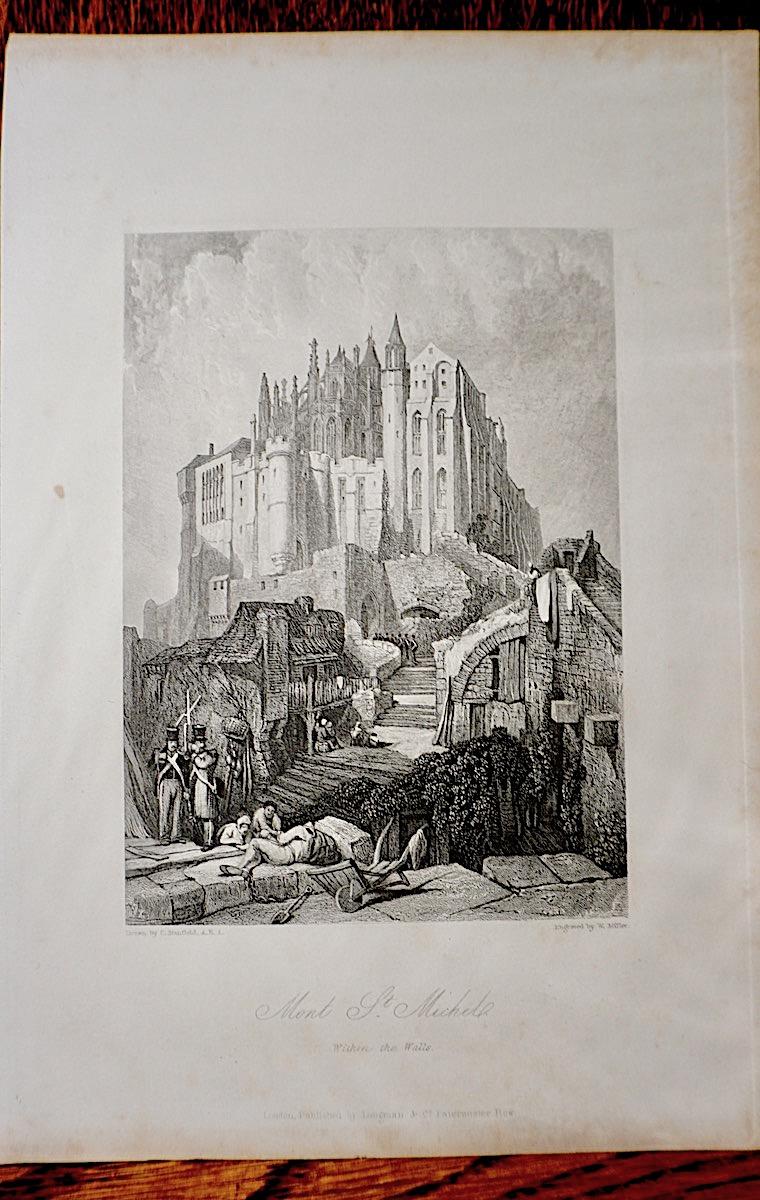 Antique Engraving Print Quot Mont St Michel Quot 1836 Antiche