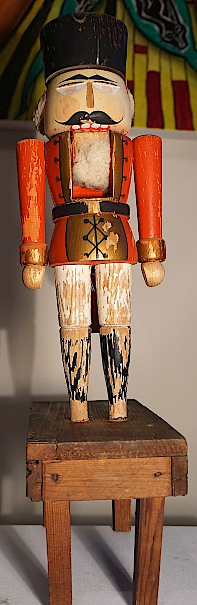 Antique Germany Christmas Wooden Nutcracker Antiche