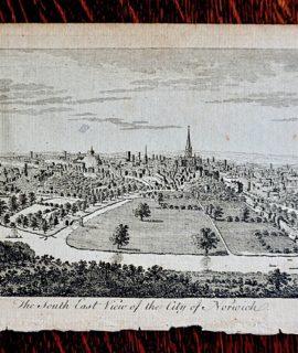 Antique Engraving Print, Norwich, 1776