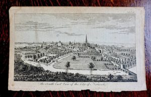 Antique Engraving Print, Norwich, 1776