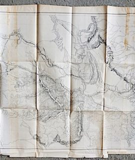 Antique map, Milk R. to the crossing of the Columbia