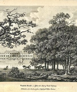 Antique Engraving Print, Wansted House in Essex 1783