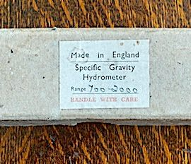 Antique Specific Gravity Hydrometer