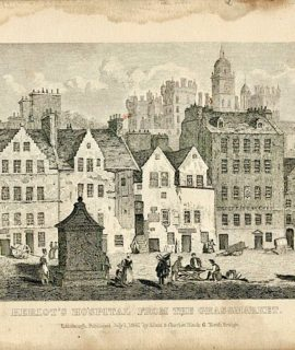 Heriot's Hospital from the Grassmarket, 1841