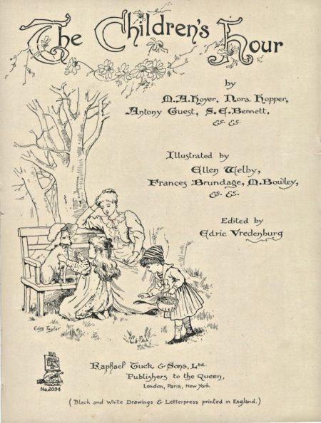 Antique print, The Children's Hour, 1898