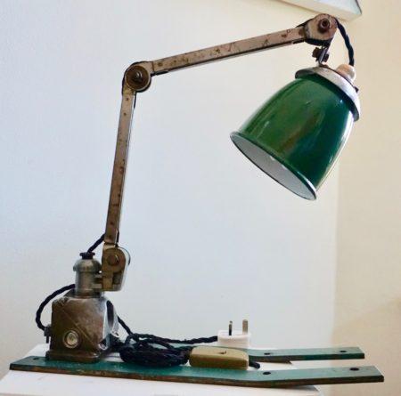 Hand made Vintage lamp 1950s Original