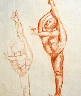 The dancer, study pastel on paper, 1957, unsigned