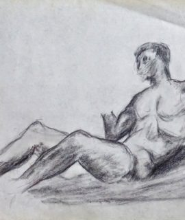 Nude Study Original Drawing, graphite on paper, 1980