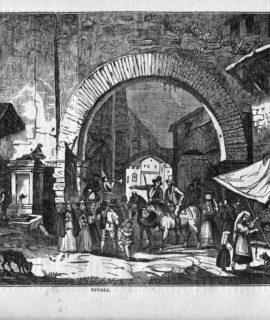 Antique Engraving Print, Tivoli, From Saturday Magazine n° 99, 1834
