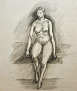 Naked Woman, pencil on paper, 1956