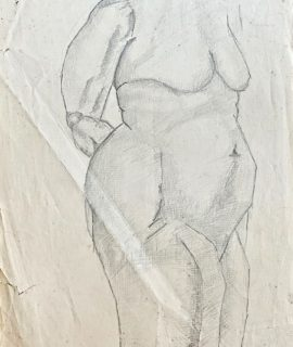 Naked woman, pencil on paper, 1958