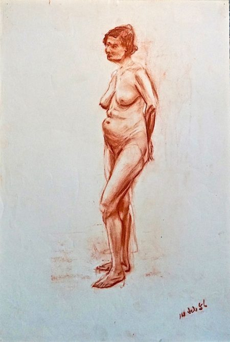 Naked Woman, sanguine on paper, 1956