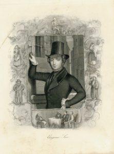 Antique Steel Engraving Print, Eugene Sue, 1845