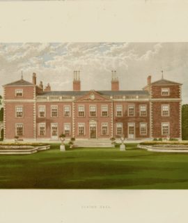 Antique Print, Euston Hall, Suffolk, 1880