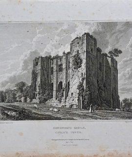 Antique Engraving Print, Kenilworth Castle, Cesar's Tower, 1820