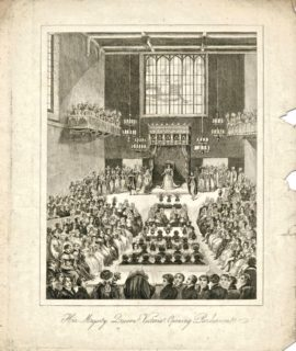 Her Majesty Queen Victoria. Opening Parliament, 1840