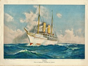 Vintage print, 1904, from the painting by Charles M. Padday