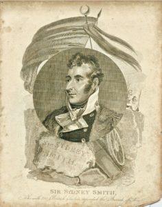Antique Engraving Print, Sir Sydney Smith, 1796
