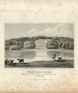 Antique Engraving Print, Wanstead House, Essex 1818