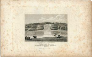 Antique Engraving Print, Wanstead House, Essex 1818