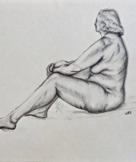 Naked woman, graphite on paper, 1957
