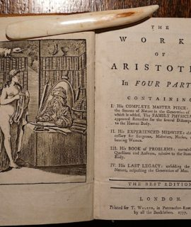 The Works of Aristotle in four parts, London, T. Walker, 1777