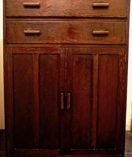 Vintage Handmade Chest of Drawers art deco