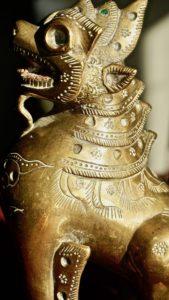 Antique Chinese Feng Shui Handmade Brass Chi Lin/Qilin Zhi Lin Statues Collectible Unicorns