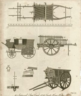 Improved Stage Coach, Smart's Horse Helper, Braby's Cart and Drag, 1816
