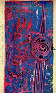 In principio era il legno, unique sample, linocut by Mary Blindflowers©