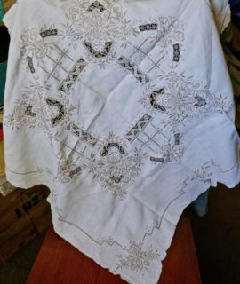 Vintage Handwork Tablecloth