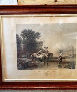 Antique Engraving Print with frame