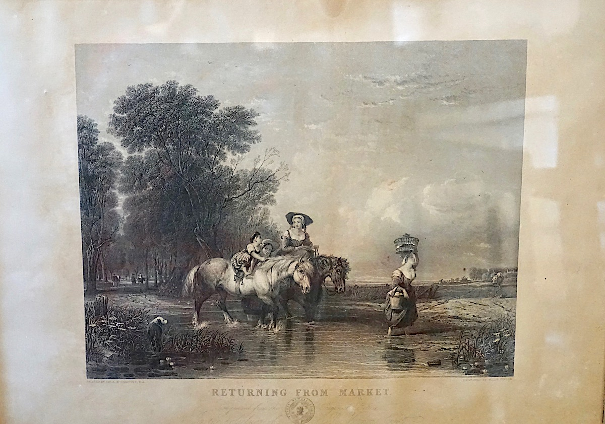 Antique Engraving Print With Frame 1845 Antiche Curiosit 224