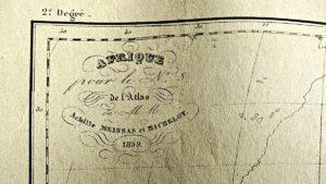 Antiqu Engraving Print, Africa