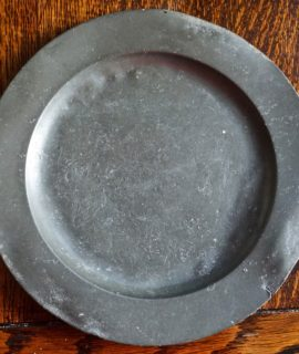 Antique Pewter Plate, 1770