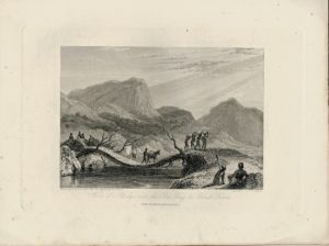 View of Bridge over the Ba Fing or Black River, 1830 ca.