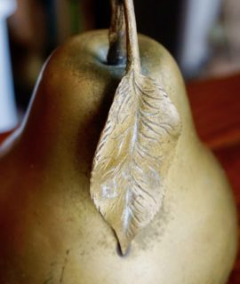 Vintage Italian Brass Apple