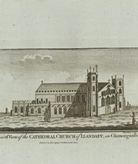 A North View of the Cathedral Church of Llandaff in Glamorganshire, 1830 ca.