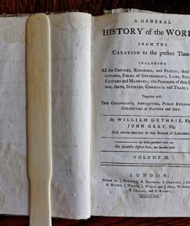 A General History of the World from the Creation to the present Time... by William Guthrie Esq. John Gray, London, 1764
