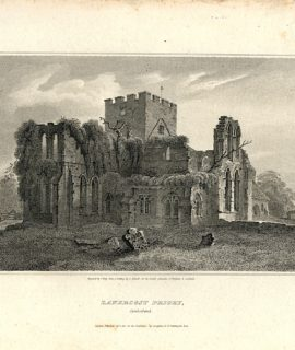 Antique Engraving Print, Lanercost priory, 1812